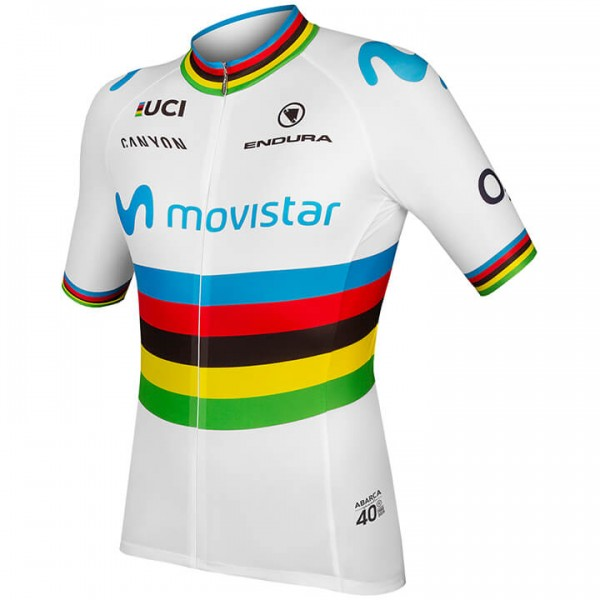 2019 Maillot manches courtes MOVISTAR TEAM Champion du monde