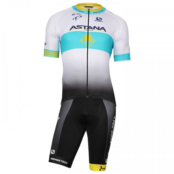 2017-2018 Set (2 pièces) ASTANA PRO TEAM Champion kazakh