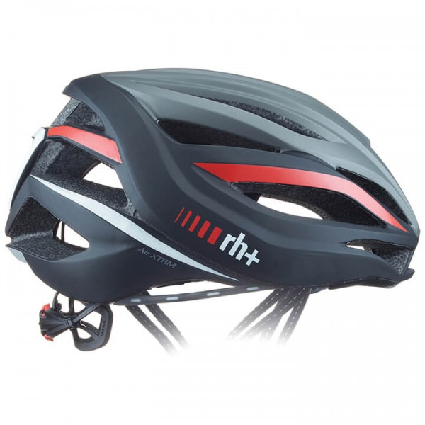 2019 Casque route rh+ Air XTRM argentin - noir - rouge - multicolore