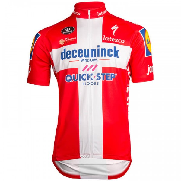 2019 DECEUNINCK-QUICK STEP Champion danois Maillot manches courtes