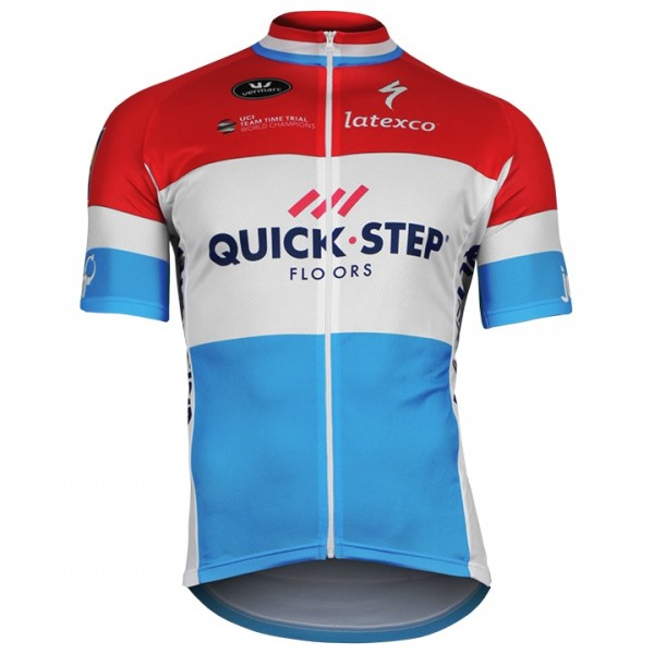 2018 Maillot manches courtes QUICK-STEP FLOORS Champion luxembourgeois