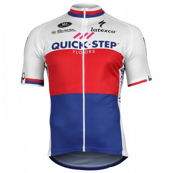 2018 Maillot manches courtes QUICK-STEP FLOORS Champion tchèque
